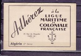 CARNET DE 20 VIGNETTES LIGUE MARITIME ALGERIE    LUXE NEUF SANS CHARNIERE- - Sonstige
