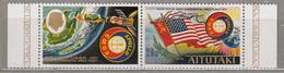 AITATUKI Space Apollo USA USSR MNH(**) Mi 139-140 #31433 - Oceania