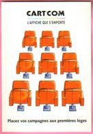 """Carte Postale """"Cart'Com"""" Série """"Publicité Pour Cart'Com"""" - L'affiche Qui S'emporte (sièges De Théâtre) - Advertising"""