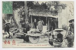 TONKIN CARTE HANOI UN COIN DU MARCHE - Vietnam