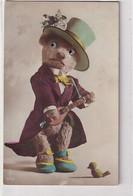 Bekleideter Teddy-Bär Mit Glasaugen         (P-357-10619) - Mechanical