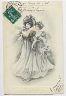 FRANCE SEMEUSE 5C AU RECTO CARTE BONNE ANNEE 1911 IMPRIMES PP PARIS PP 21 SANS DATEUR JOUR DE L'AN - 1906-38 Semeuse Con Cameo