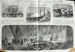 Fonderie De Canons De Ruelle - Fabrication Des Moules - Page Originale Double 1870 - Historische Documenten