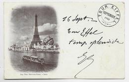 FRANCE SAGE10C PARIS EXPOSITION RAPP 16 SEPT 1900  CARTE TOUR EIFFEL - 1877-1920: Periodo Semi Moderno