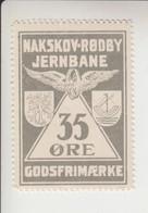 Denemarken Spoorwegzegel Lijn Nakskov-Rodby Jernbaene 10 - Local Post Stamps