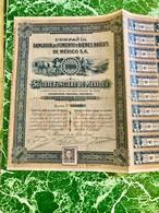 Compañía  Bancaria  De  Fomento  Y  Bienes  Raíces  De  Mexico  S.A.------ Action  De  100 Piastres - Bank & Insurance