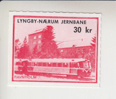 Denemarken Spoorwegzegel Lijn Lyngby-Naerum Jernbaene 135e - Local Post Stamps