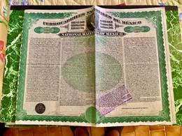 FERROCARRILLES  NACIONALES  De  MEXICO  ----------Obligation  De  100$ - Railway & Tramway