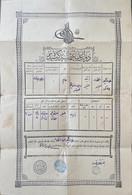 Turquie, Empire Ottoman, Document Historique. Scan R/V. - Historische Documenten