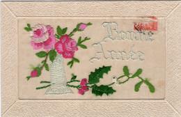 8316 Cpa Fantaisie Brodée - Bonne Année - Embroidered