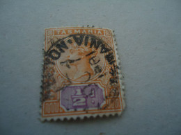 TASMANIA  USED STAMPS   QUEEN WITH POSTMARK  1901 - Palestine