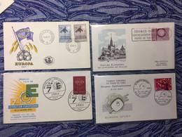 BELGIUM : 4x FDC  / EUROPA CEPT - 1961-70