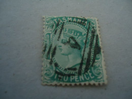 TASMANIA  USED STAMPS   QUEEN WITH POSTMARK  4 - Palestine