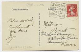 FRANCE N° 194 CARTE  PECHEURS DE COQUES DAGUIN  LE CROTOY CURE D'HIVER CHASSE HOTELS VILLAS 1926 - Mechanical Postmarks (Advertisement)