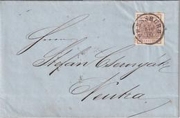 AUTRICHE 1856 LETTRE DE PRESSBURG - Covers & Documents