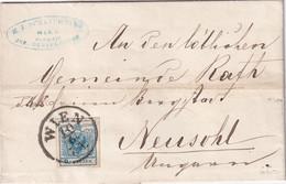AUTRICHE 1858 LETTRE DE WIEN - Covers & Documents