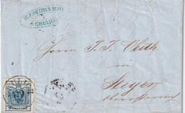 AUTRICHE 1854 LETTRE DE GRULICH - Covers & Documents