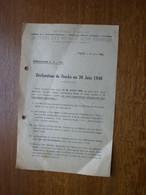 Circulaire Section Des Métaux Non Ferreux Déclaration De Stock 30 Juin 1946 - Historische Documenten