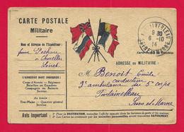 Correspondance En Franchise Datée De 1914 - Voyagée De Chuelles à Destination De Fontainebleau - Guerra 1914-18