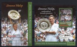 Romania 2019. Simona Halep, The Romanian Tennis Ambassador. Winner Of Two Grand Slam Tournaments.  Famous People.  MNH - Nuovi