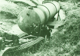 Removal Of 22,500 Gal. Fuel Tank In Guernsey, Channel Islands 1947(Guernsey Press-Print Postcard) - Equipment