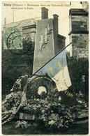 Cpa  Cléry (80)  Monument Aux Morts Guerre De 1870 (recolorisée),  Beau Plan - Andere Gemeenten