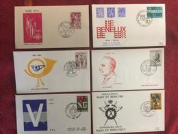BELGIUM : 6x FDC  Year 1974-77 - 1971-80