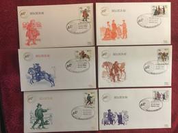 BELGIUM : 6x FDC  Year 1982  Belgica 1982  Postal History - 1981-90