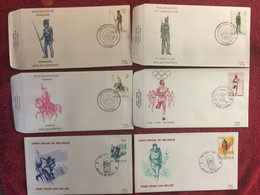 BELGIUM : 6x FDC  Year 1983   Army Costumes - 1981-90