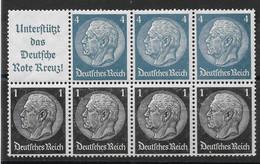 Deutsches Reich, Postfrischer H-Blatt- Zusammendruck Der Hindenburg-Ausgabe Von 1939 - Se-Tenant