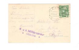 K.u.k. Militärzensur Olmütz - Covers & Documents
