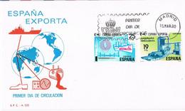 41814. Carta F.D.C. MADRID 1980. ESPAÑA EXPORTA - FDC