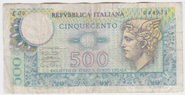 Italy P 94 - 500 Lire 12.2.1974 - Fine+ - 500 Liras
