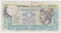 Italy P 95 - 500 Lire 20.12.1976 - Fine+ - 500 Liras