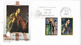 41815. Carta F.D.C. BARCELONA 1982. Pintura EL GRECO - FDC