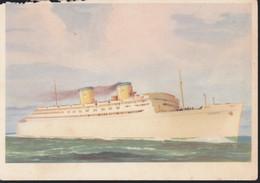 Cartolina ITALIA : Cartolina   S.S. ATLANTIC - NAVE PASSEGGERI MEDITERRANEO-NEW YORK   .n.v. - Andere