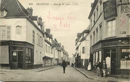 -dpts D-ref-AX233- Oise - Beauvais - Rue Du 27 Juin - Café Au Rendez Vous Des Cyclistes - Magasin Lesage Comestibles - - Beauvais