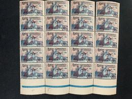 FRANCE Feuille De 20 Ex TTB Précurseur GUYNEMER Vignette Aérienne - Unused Stamps