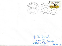 AFRIQUE DU SUD. N°821 De 1993 Sur Enveloppe Ayant Circulé. Ibis. - Kraanvogels En Kraanvogelachtigen
