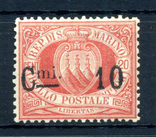1892 SAN MARINO N.10 * - Unused Stamps