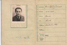WW2 - 1944 S.T.O. LIVRET DE TRAVAIL ALLEMAND Pour La Main D'œuvre Française - Avec Photo - Historische Documenten