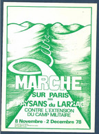 Carte Postale Pétition Contre L'extension Du Camp Militaire Du Larzac - Non Classés