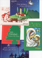 Costa Rica - 4 Christmas & New Year Postal Cards - Prepaid - #365 - Costa Rica