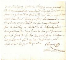 SAINT LO . COMMUNAUTE DES MARCHANDS DRAPIERS FERONIERS ...RECU DE 5 LIVRES . 1754 - Historische Documenten