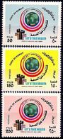 Kuwait 1989 MNH 3v, WHO World Health Day Medical Maps Flag - Medicina