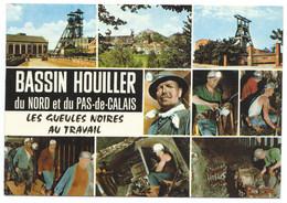 SP CARTE POSTALE LES GUEULES NOIRES NORD ET PAS DE CALAIS /  MINE / MINEURS / BASSIN HOUILLER / 1985 - Mines
