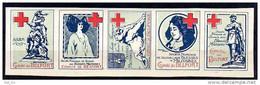 FRANCE - BANDE De 5 VIGNETTES Du SSBM - COMITE De BELFORT - Croix Rouge - SECOURS Aux BLESSES MILITAIRES -TRES BON ETAT. - Croix Rouge