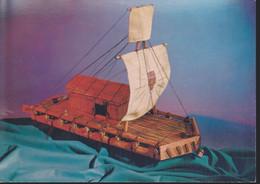 Cartolina ITALIA : La Spezia - Museo Navale - Serie Navi Antiche - Modello Della Zattera Kon Tiki - Formato Grande .n.v. - Andere