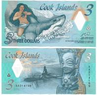 """Cook Islands 3 Dollars 2021 UNC """"AA"""" - Cook Islands"""