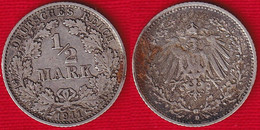 Germany 1/2 Mark 1911 D Km#17 Ag Silver - 1/2 Mark